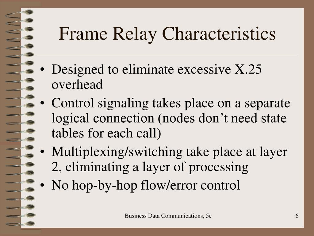 Frame Relay Characteristics