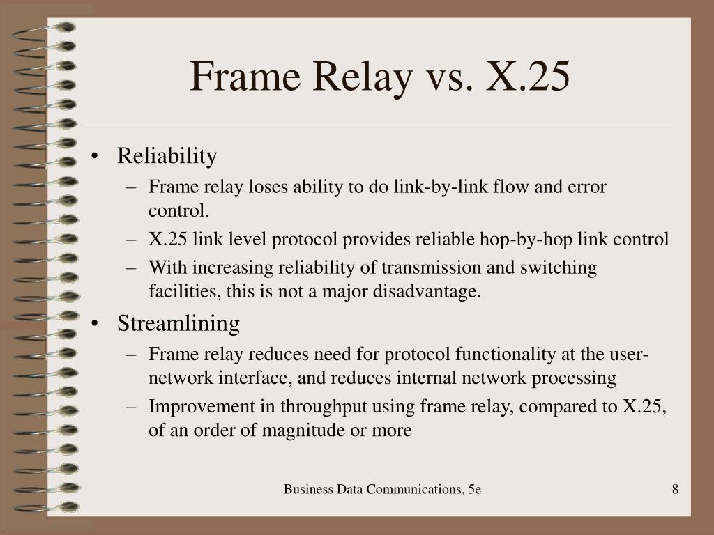 Frame Relay vs. X.25