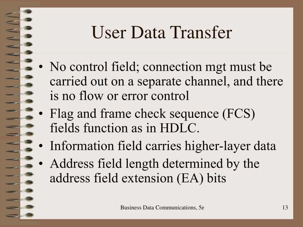 User Data Transfer