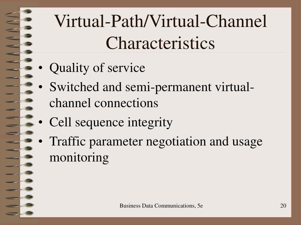 Virtual-Path/Virtual-Channel Characteristics