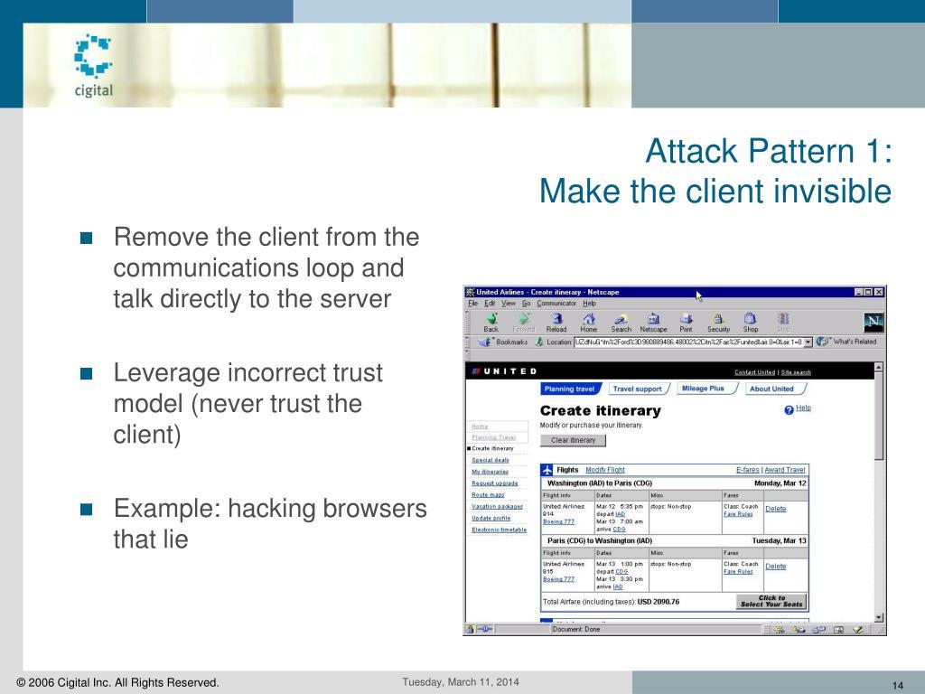 Attack Pattern 1: