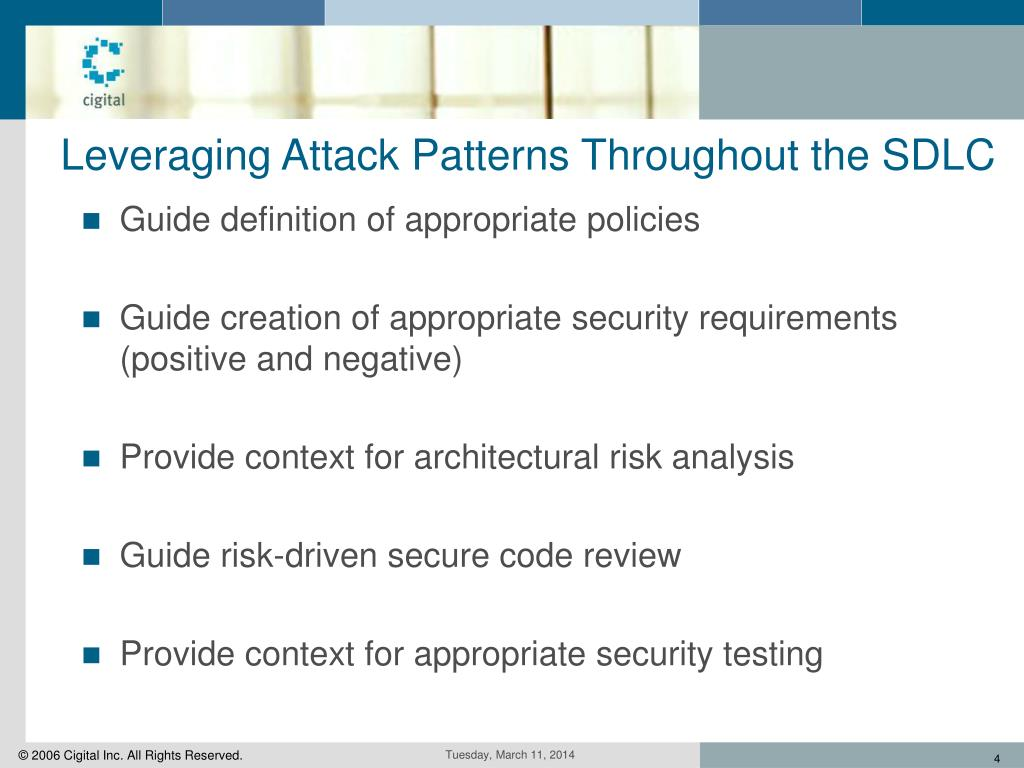 Leveraging Attack Patterns Throughout the SDLC