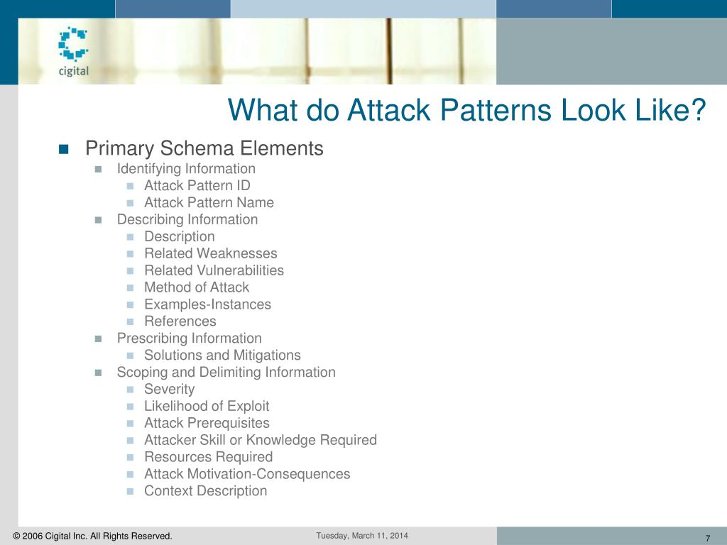 What do Attack Patterns Look Like?
