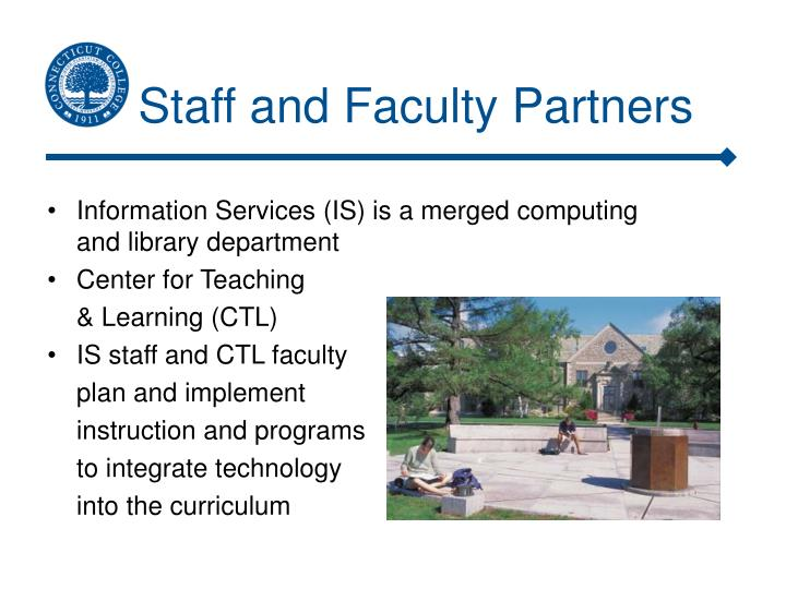 Staff and faculty partners