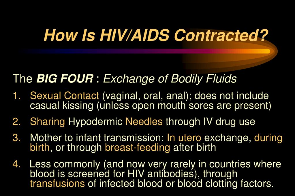 How Is HIV/AIDS Contracted?