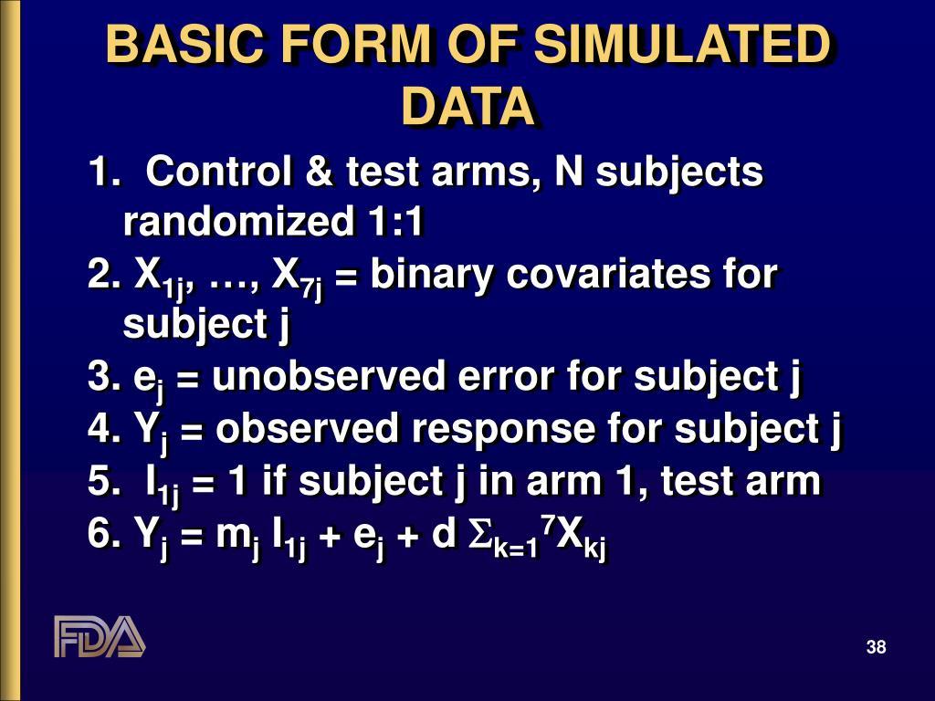 BASIC FORM OF SIMULATED DATA