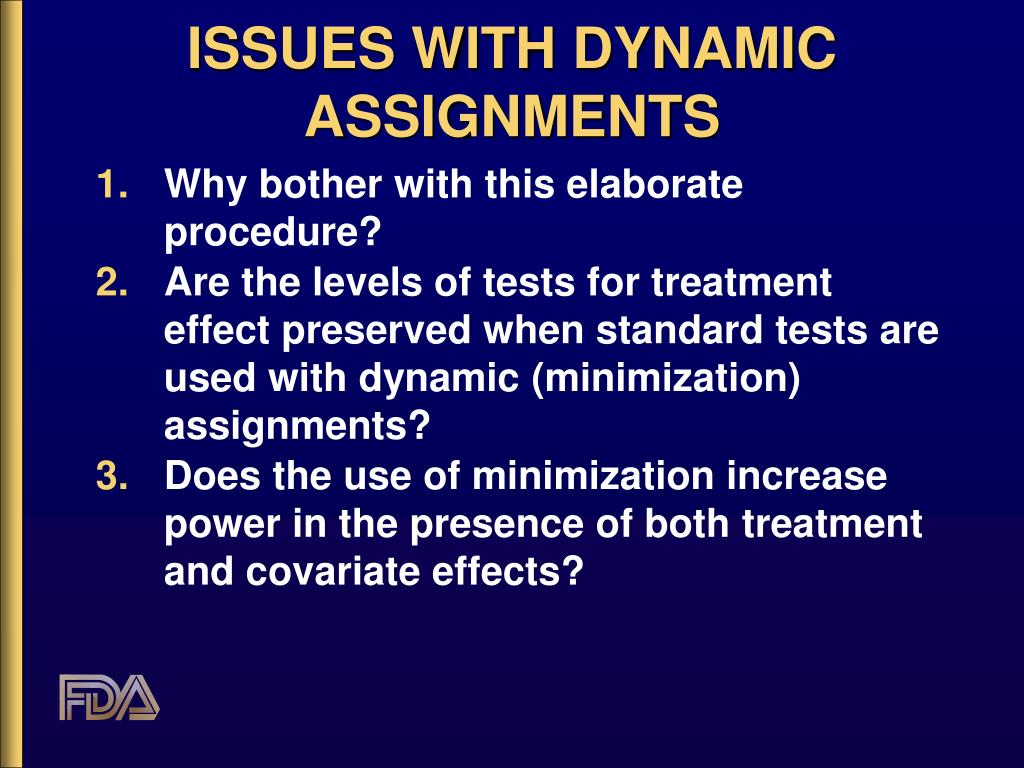 ISSUES WITH DYNAMIC ASSIGNMENTS