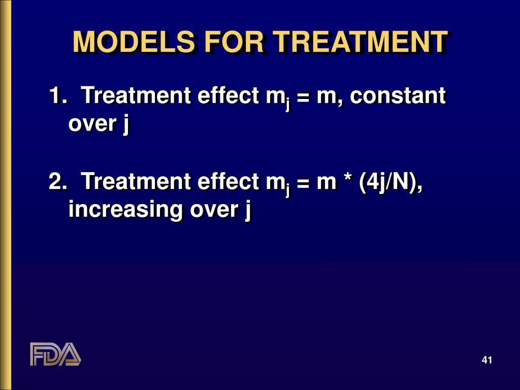 MODELS FOR TREATMENT