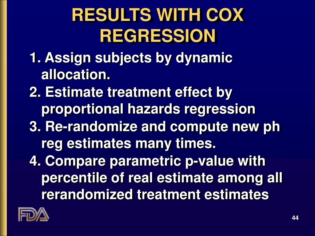 RESULTS WITH COX REGRESSION