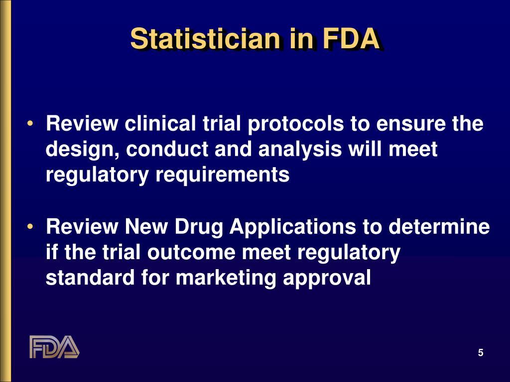 Statistician in FDA