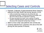 selecting cases and controls11