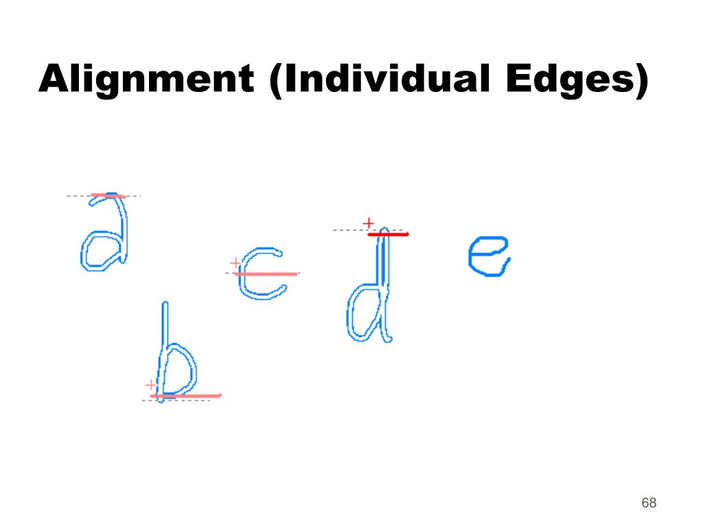 Alignment (Individual Edges)
