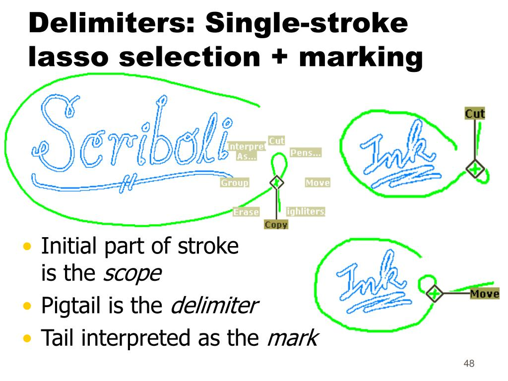 Delimiters: Single-stroke