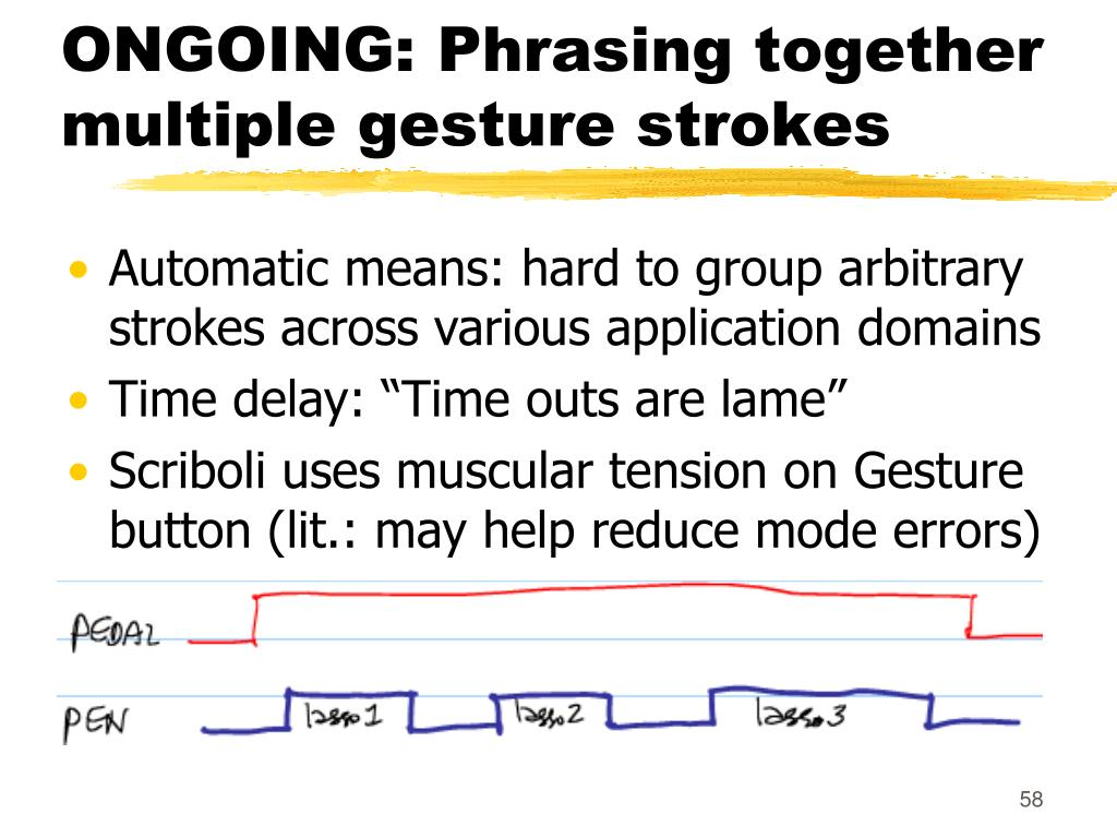 ONGOING: Phrasing together multiple gesture strokes