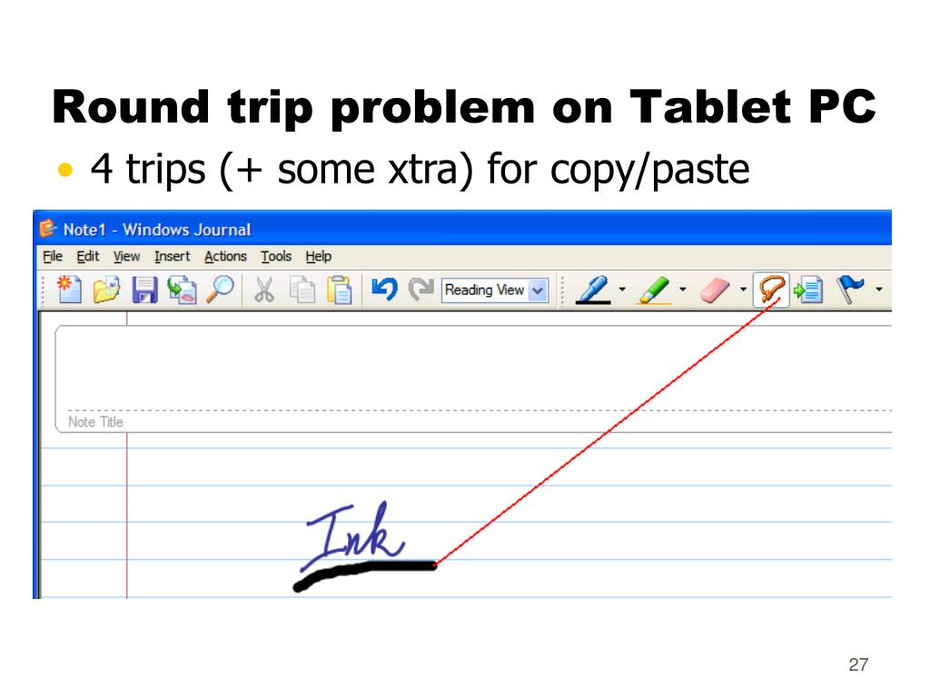 Round trip problem on Tablet PC