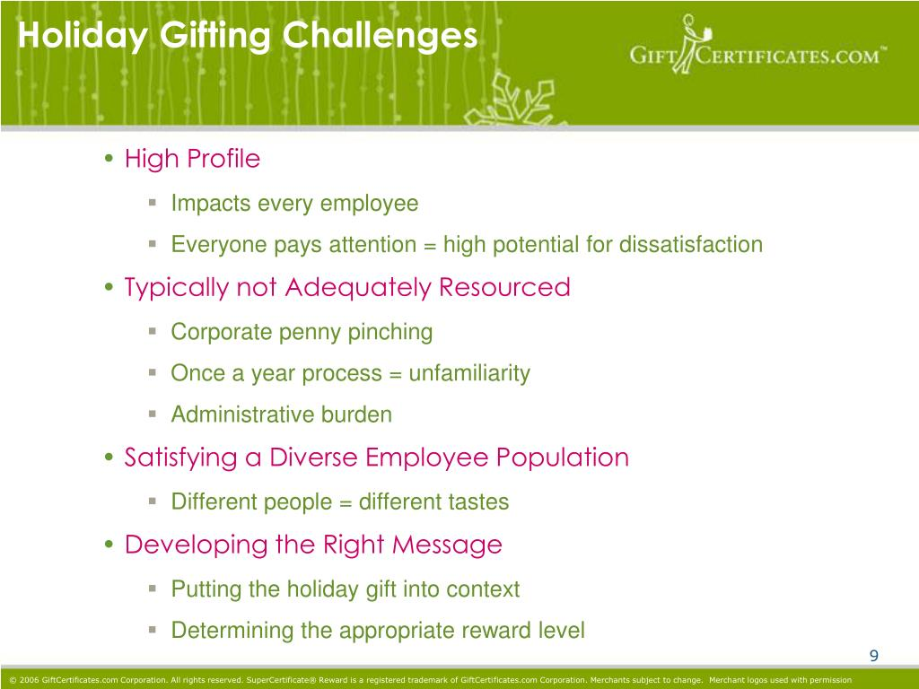 Holiday Gifting Challenges