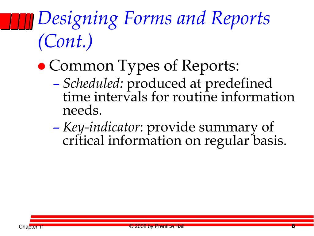 Designing Forms and Reports (Cont.)