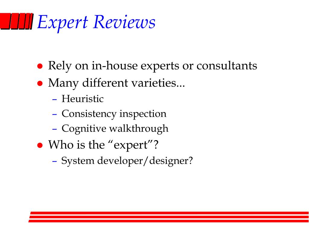 Expert Reviews