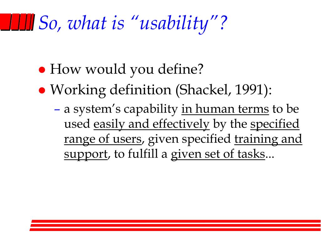 "So, what is ""usability""?"