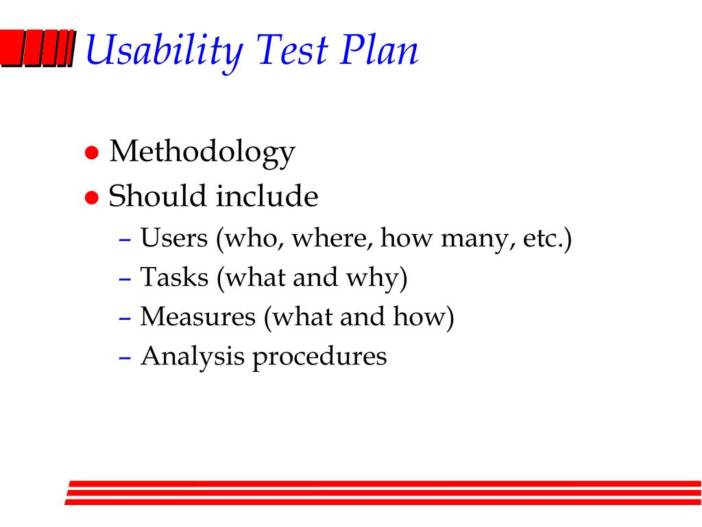 Usability Test Plan