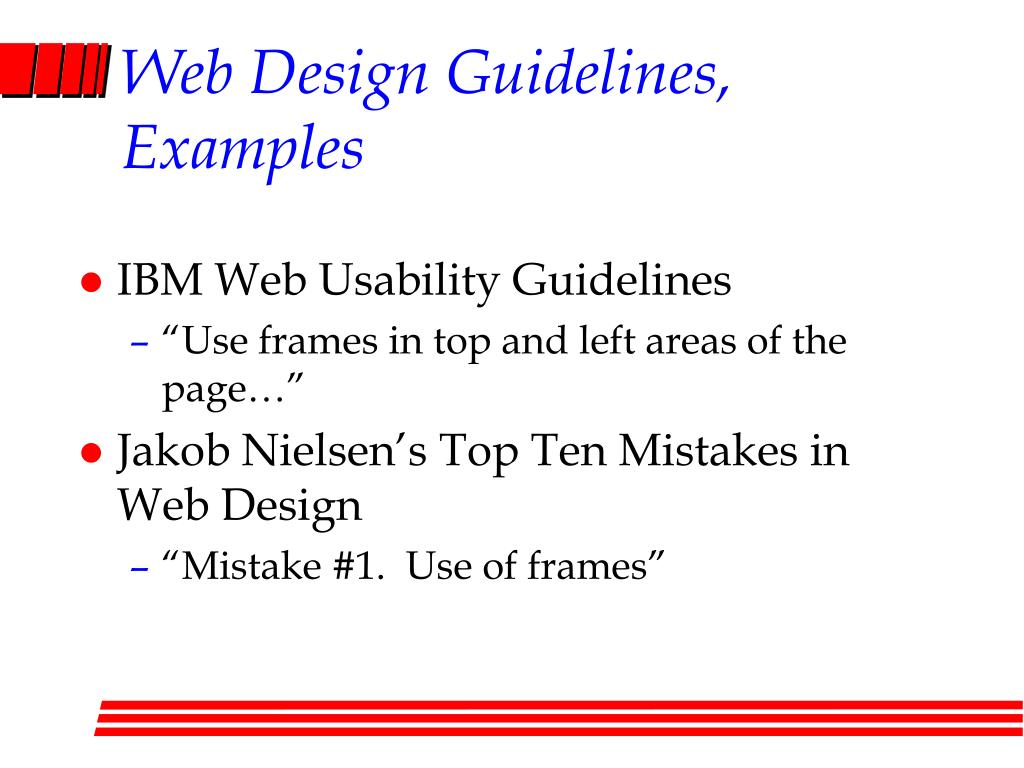 Web Design Guidelines, Examples
