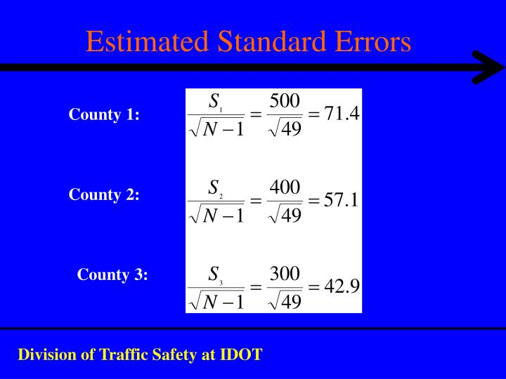 Estimated Standard Errors