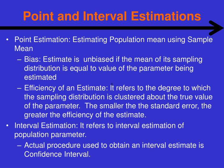 Point and Interval Estimations