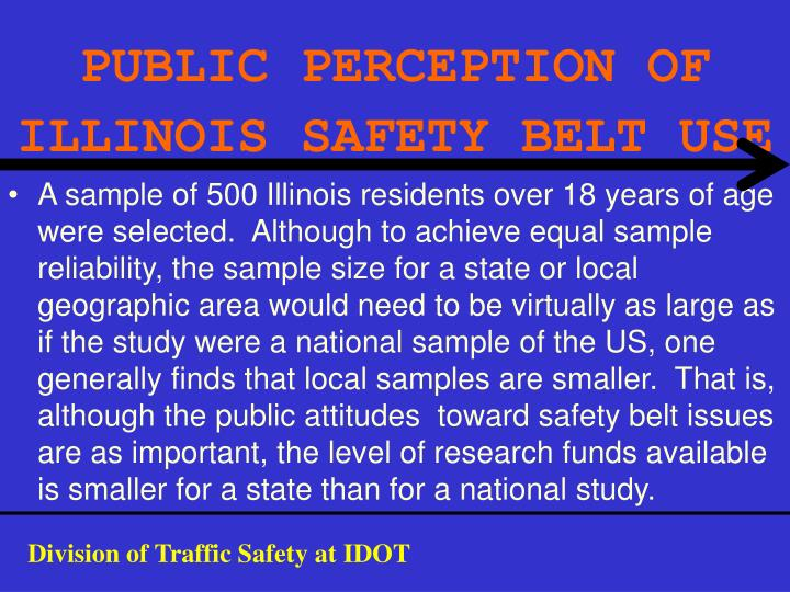 PUBLIC PERCEPTION OF ILLINOIS SAFETY BELT USE