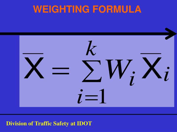 WEIGHTING FORMULA