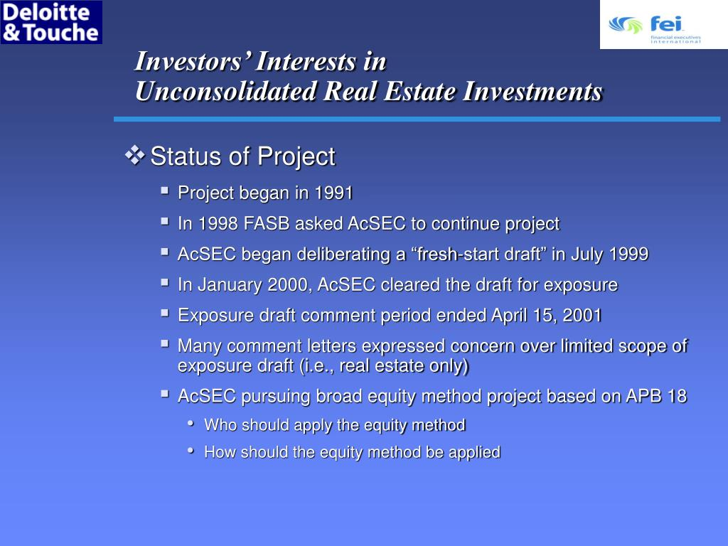 Investors' Interests in
