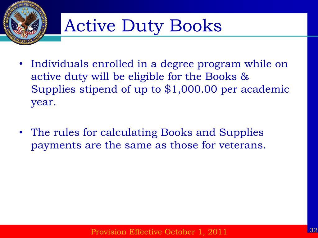Active Duty Books