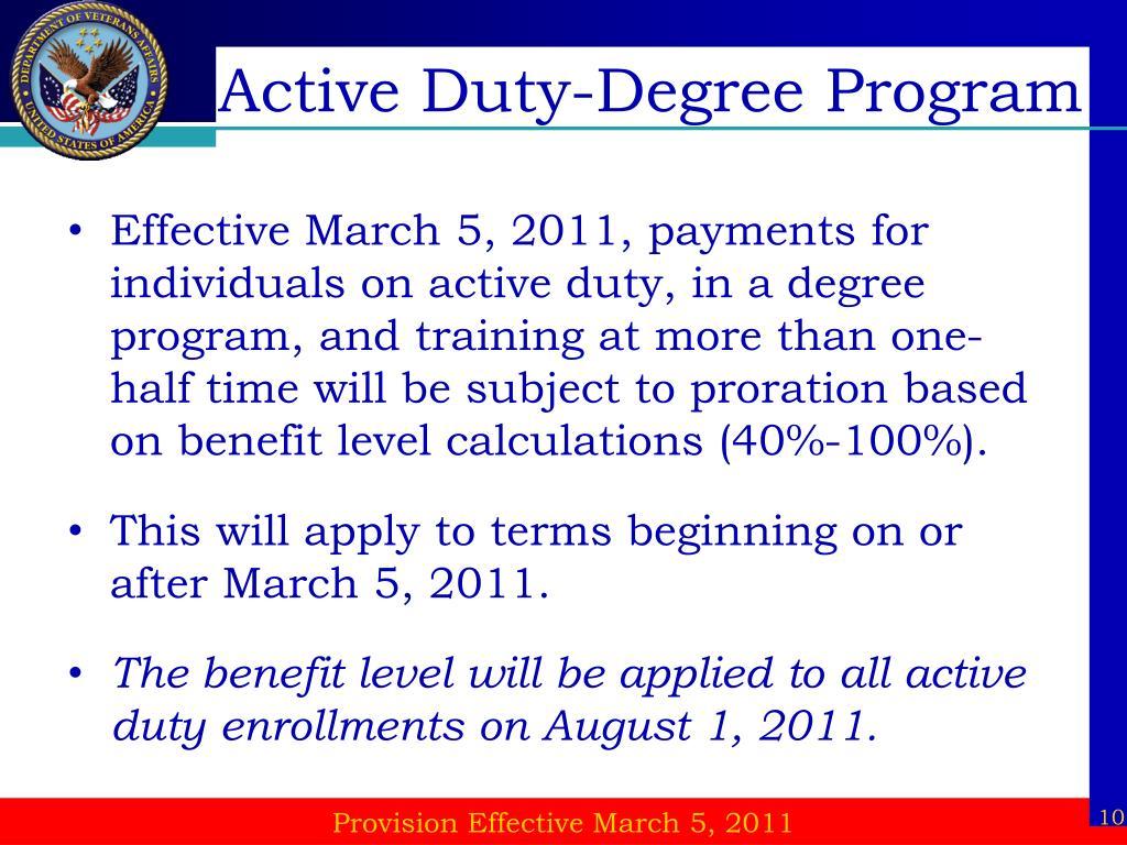 Active Duty-Degree Program