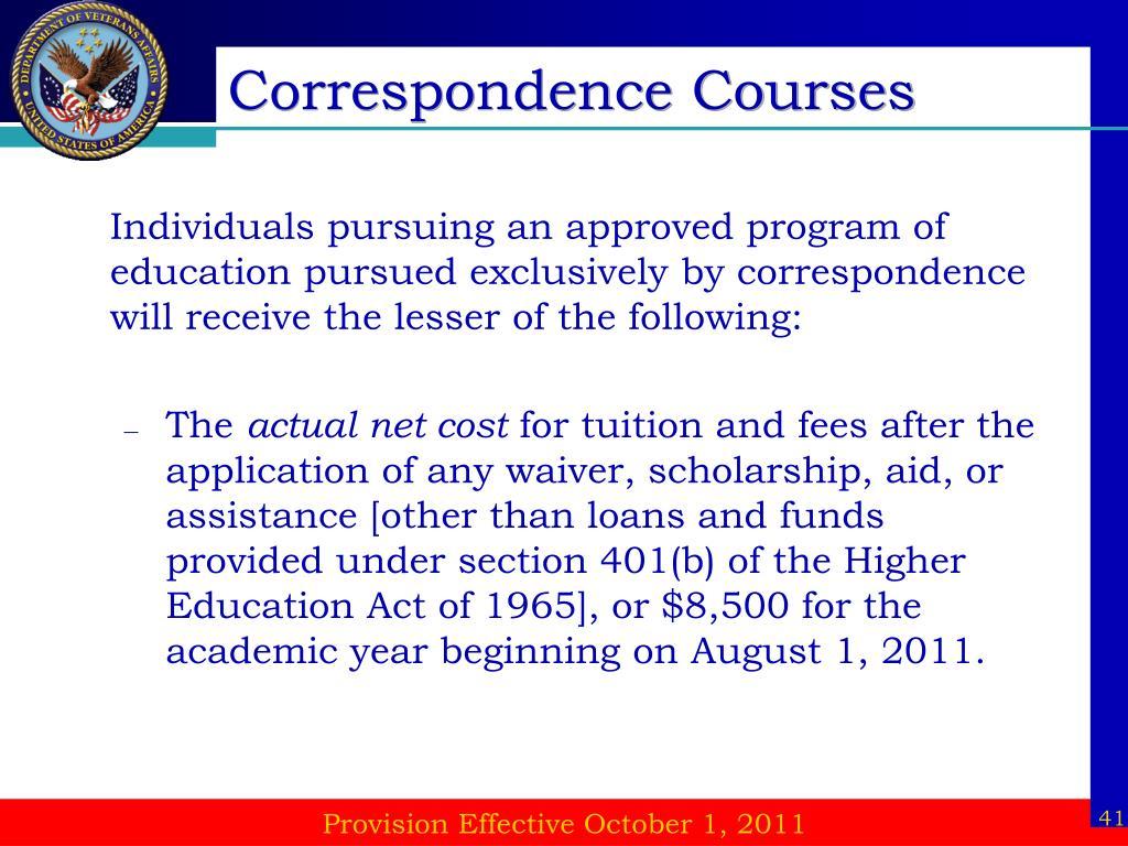 Correspondence Courses