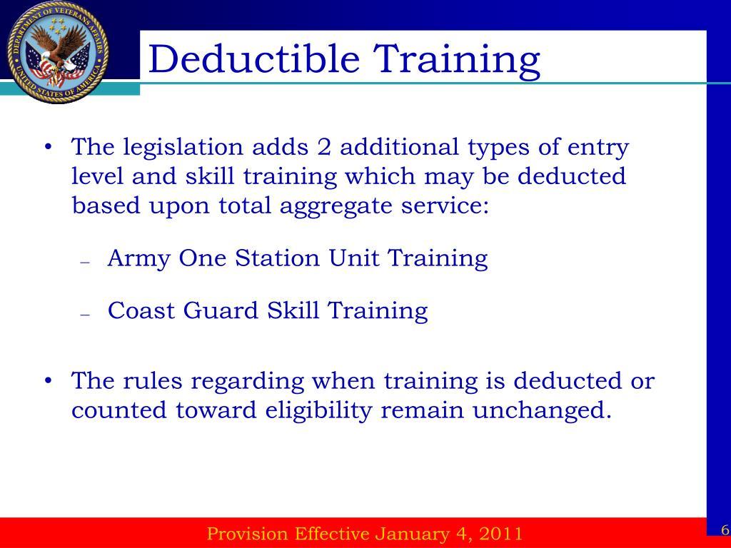 Deductible Training