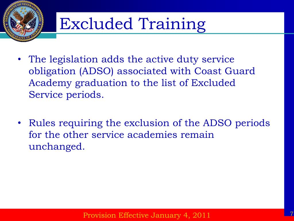 Excluded Training