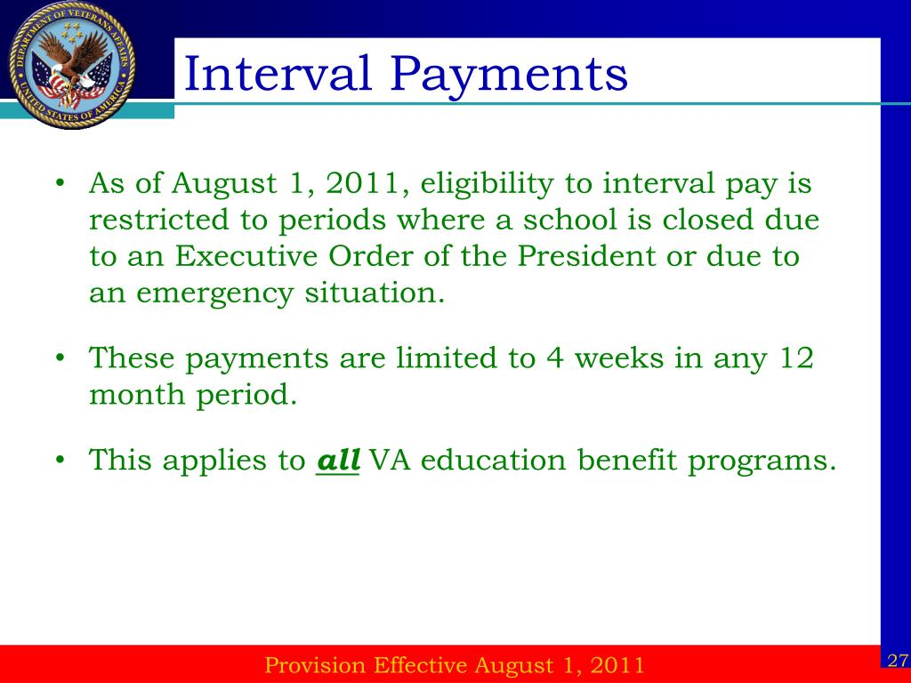 Interval Payments
