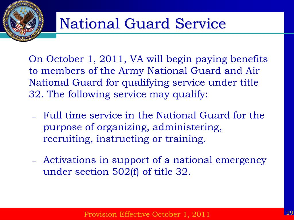 National Guard Service