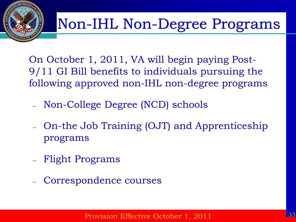 Non-IHL Non-Degree Programs