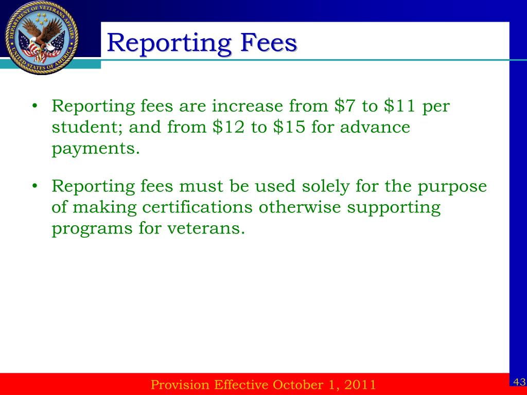Reporting Fees