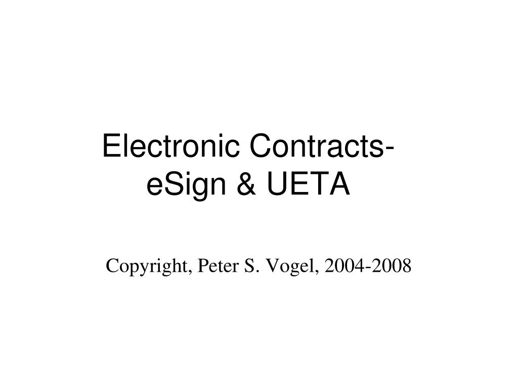 Electronic Contracts-