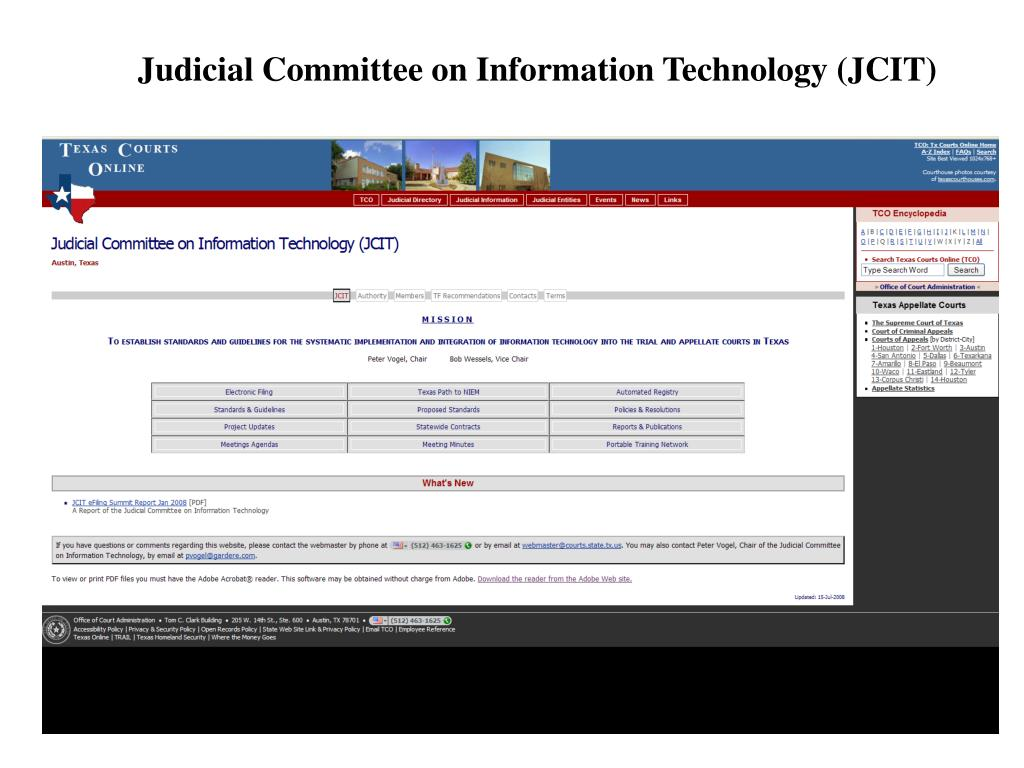 Judicial Committee on Information Technology (JCIT)
