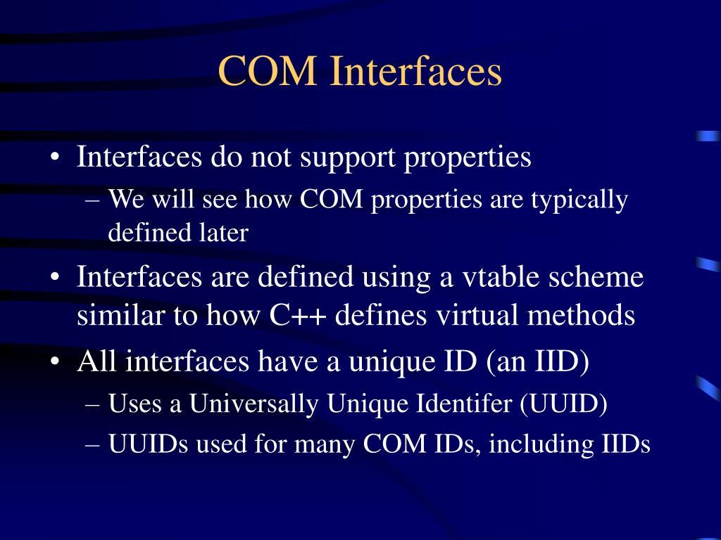 COM Interfaces