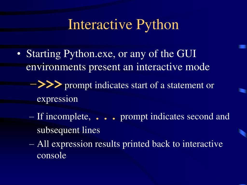Interactive Python