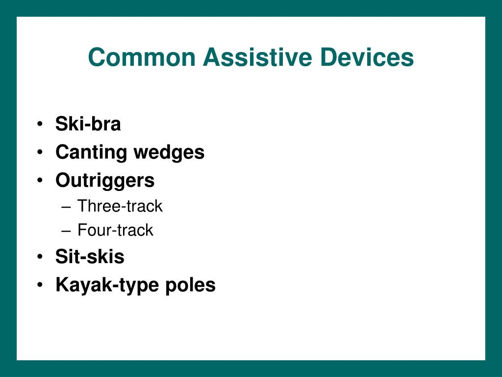 Common Assistive Devices