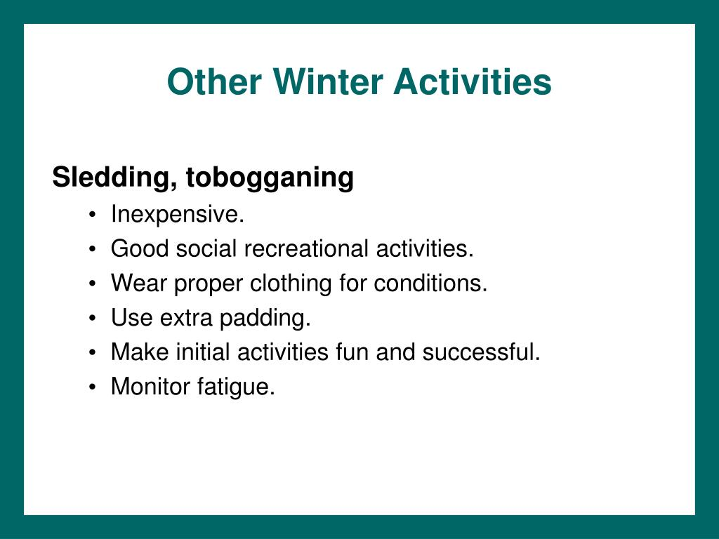 Other Winter Activities