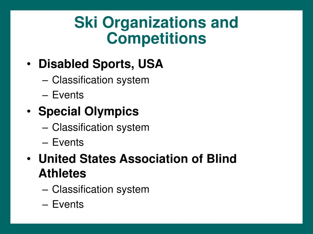 Ski Organizations and Competitions