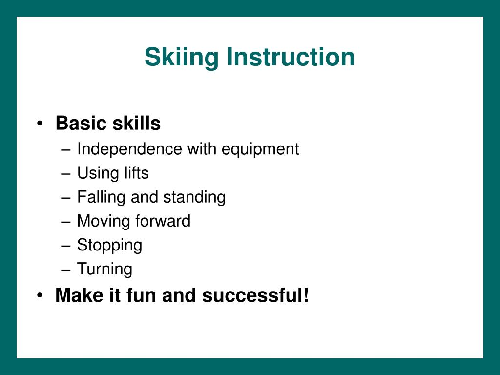 Skiing Instruction