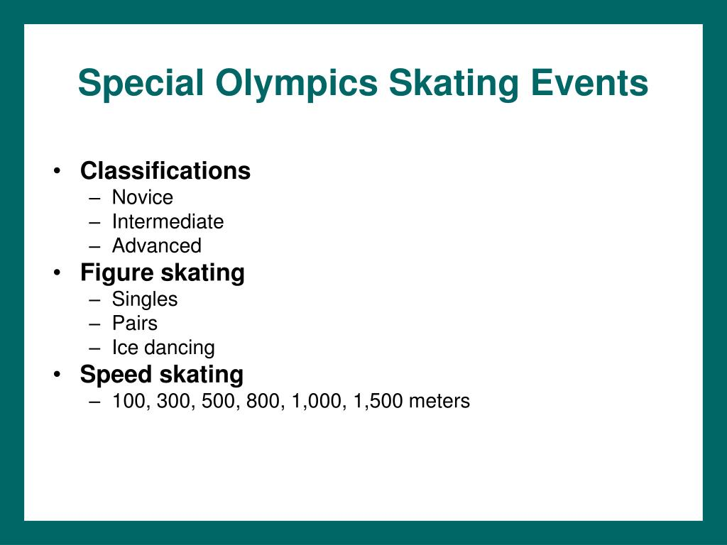 Special Olympics Skating Events