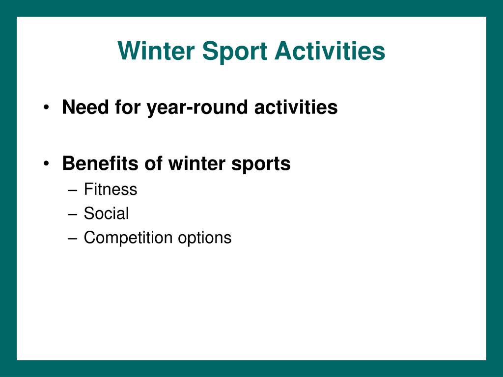 Winter Sport Activities