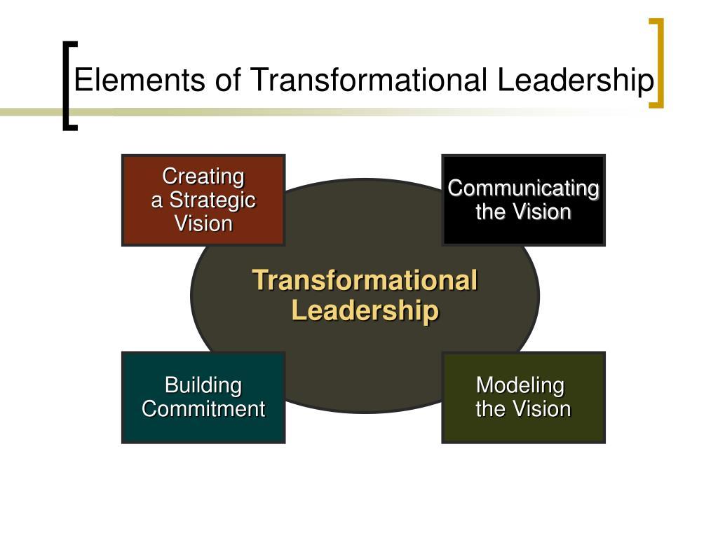Elements of Transformational Leadership